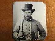 Civil War Confederate Soldier With Sword Rp Tintype C1187rp