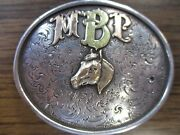 Mark Drain's Reno Custom Silver Sterling And 14k Gold Western Horse Belt Buckle