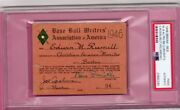 1946 Ted Williams/stan Musial Mvp Ticket Pass Psa Red Sox/cardinals Win Pennant