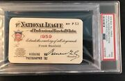 1959 Nl Ticket Pass Psa Bob Gibson Debut/1st Win/willie Mccovey Rcy