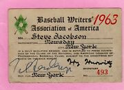 1963 Sandy Koufax No-hit Ticket Pass Pete Rose Debut First Hit/musial Last Hit