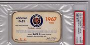 1967 Red Sox Win Pennant/detroit Tigers Lose Psa Ticket Pass Mickey Mantle 3 Hrs