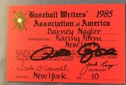 1985 Pete Rose Ticket/pass 4192 Hit Tops Ty Cobb Ml Record/signed Coa/phillies