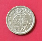 St.thomas And Portugal, 2 1/2 Escudos 1951, Silver Coin   [m60]