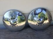 A Pair Of Vintage 1949-50 Ford 10.5 Hubcap Wheelcover Dogdish Poverty Fomoco
