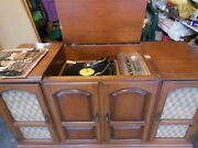Handcrafted Vintage Stereo Console-scott Fm Tuner Turntable [ Used ]