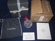 Steuben Glass Christmas Ornament Peace On Earth Angel 9269 New In Box