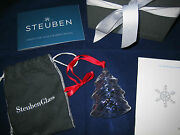 Steuben Glass Christmas Ornament Christmas Tree Excellent In Box