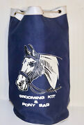 Equestrian Vintage Canvas Grooming Kit And Pony Bag