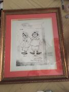 Antique John Gruelle Raggedy Ann Doll Certified Copy Of Original Drawing Patent