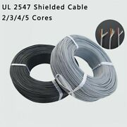 Ul 2547 Shielded Cable 2/3/4/5 Cores Audio Headphone Signal Tinned Copper Wire