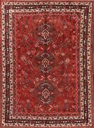 Super Deal Antique 7x9 Wool Area Rug Oriental Wool 8and0396 X 6and0392