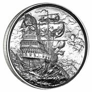 Privateer 1 Silver 2 Troy Ounce Ultra High Relief Round Elemetal Encapsulated