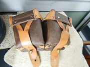 Russian Mosin Ngant Ammo Pouches W/duel Oil And Cleaning Solvent Container/tin.