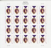 Military Purple Heart Medal Stamp Sheet -- Usa 4704 Forever 2012