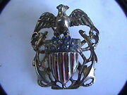 One Week Sale Reja Pin Sterling Eagle Shield Military 1940s Nautical Brooch Pin