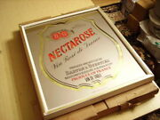 """Vintage Barton And Guestier Bandg French Wine Framed Mirror Sign """"nectarose - New"""