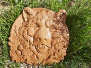Bear Animals Ornament Wood Carved Plaque Wall Hanging Art Work Home Decor