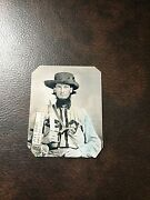 Civil War Confederate Military Soldier With Sword And Pistol Tintype C699rp
