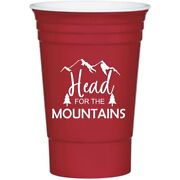 16 Oz Personalized Custom Stadium Cups Wedding Favor Plastic Cups Party Red Solo
