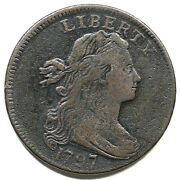 1797 S-129 R-5 Draped Bust Large Cent Coin 1c