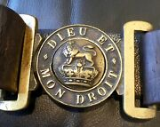 Rare Victorian 1837-1901 Late Reign British Army Service Belt And Brass Buckle