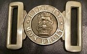 Ww1 Known And Identified British Army Veterans Brass Belt Buckle, Kings Crown