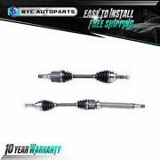 Pair Front Cv Axle Shaft For 2000-2007 2008 2009 2010 Ford Focus A.t. Exc. Svt