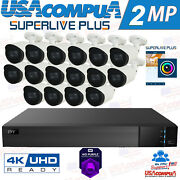 Tvt Security System 16 Channel 4k W/hd Analog Camera 1080p Cctv Kit Optional Hdd