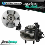 Pair Front Wheel Hub And Bearing Assembly For 2011 2012 2013 2014 Ford F-150 4wd
