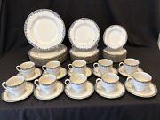 Lenox Liberty 51 Piece 10+ Place Settings Dinner Salad Bread Plate Cup Gold Rim