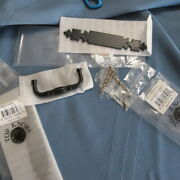 2 Nip Top Knobs M698 And M590 Patina Black Cabinet Backplates And Pulls Drawer