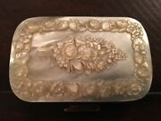 Antique Carved Mother Of Pearl Floral Coin Purse Collectible