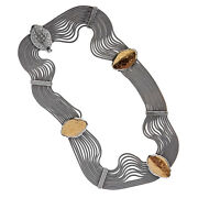 Savati Solid Gold And Sterling Silver Multi Chain Byzantine Station Necklace