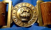 Victorian 1837-1901 Rare British Army Boer War Leather Belt And Brass Buckle