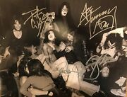 Kiss Signed Photo Gene Simmons Autographed Paul Stanley Ace Frehley Peter Criss