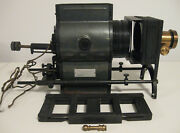 Bausch And Lomb Optical Balopticon Model C Projector, Case, Slide Frame Antique