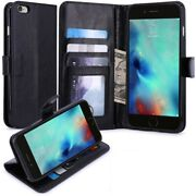 For Iphone 6s/6 - Leather Phone Case Stand Wallet Flip Cover Card Id Slots