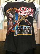 Vintage 80's Ozzy Osbourne Diary Of A Madman Tour Shirt Size Small Rock Metal