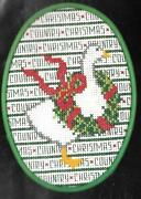 Counted Cross Stitch Kit Lois Thompson 4 X 5.25 Country Xmas Goose Unopened