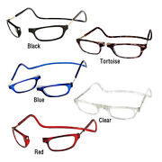 Clic Magnetic Reading Glasses Hangs Around Neck Snaps Closed Adjustable
