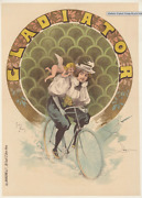 Gladiator Cycles - Original Vintage Bicycle Poster - Cycling - Noury