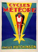 Cycles Meteore - Original Vintage Bicycle Poster - Cycling - Art Deco - Favre
