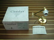 Cantalupi Queen / Vienna Gold Plated Brass Wall Light With Switch No Shade New