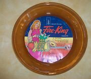 Fire King Anchor Hocking 9 Pie Plate, Amber, Unused, New With Original Label