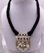 Vintage Antique Silver Amulet Box Pendant Rajasthan Tribal Jewelry Osn02