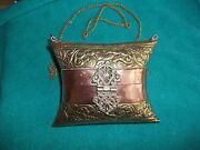 Miniature Antique Ladies Handbag Made Of Copper And Brass Us Seller