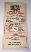 Antique American Aetna Life Insurance Co C.1896 Advertising, Old Ct Ink Blotter