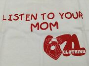 671 Clothing Listen To Your Mom White Red Youth T Shirt Size S M Or L Guam