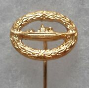Insigne Boutonniandegravere Allemagne Sous Marin U Boot Boat Submarine Pin Badge 16 Mm